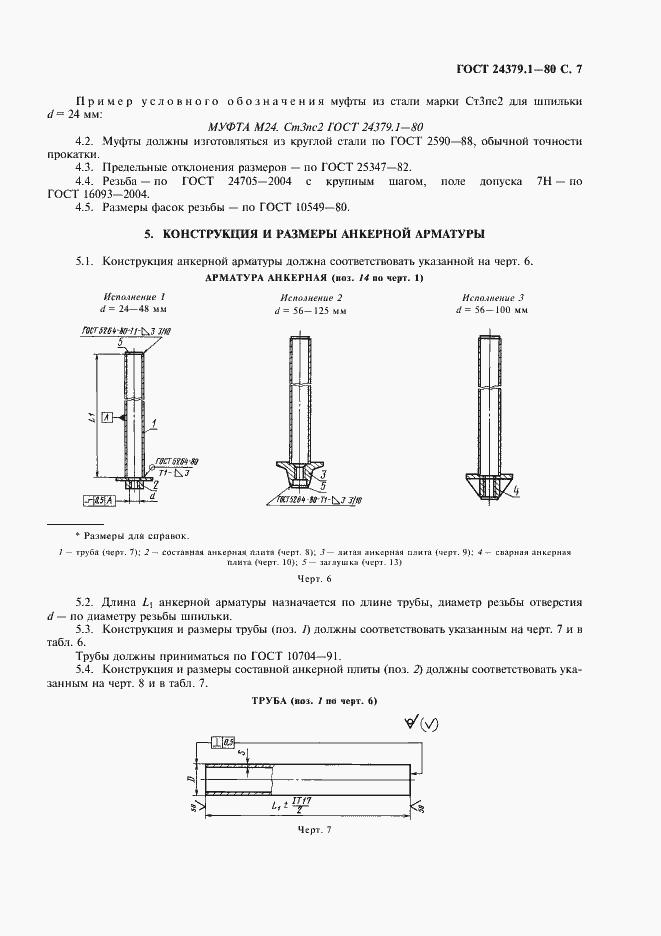 Гост 24379. 1-80. Болты фундаментные. Конструкция и размеры.