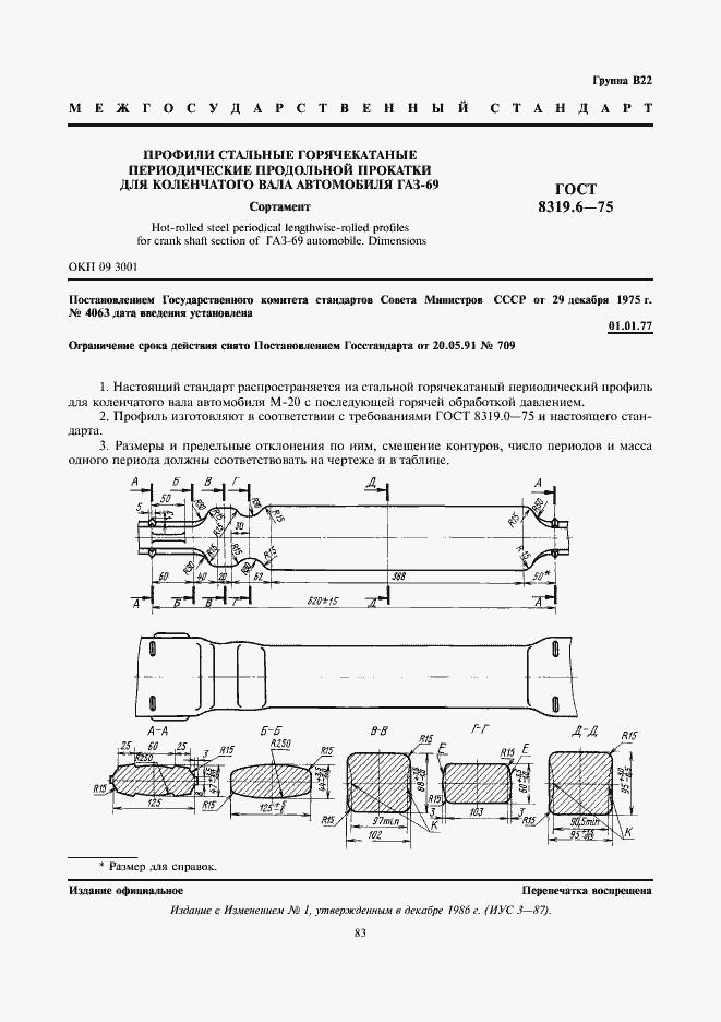 Гост 8319. 6-75: профили стальные горячекатаные периодические.