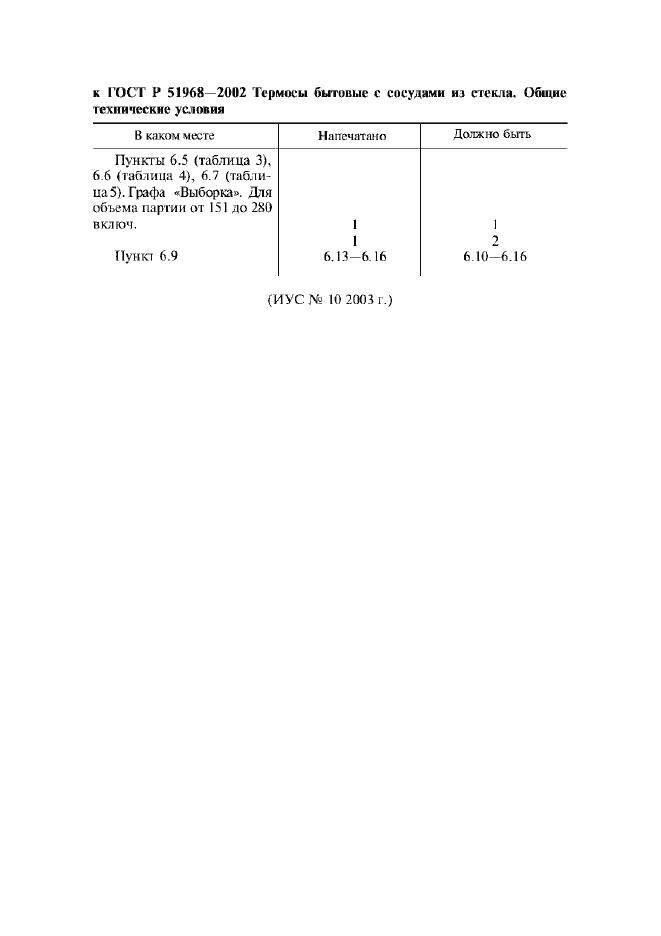 Поправка к ГОСТ Р 51968-2002